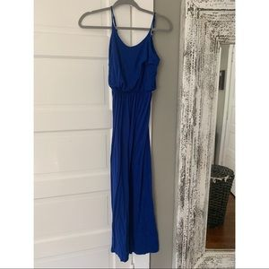 Blue Lush maxi dress with adjustable straps